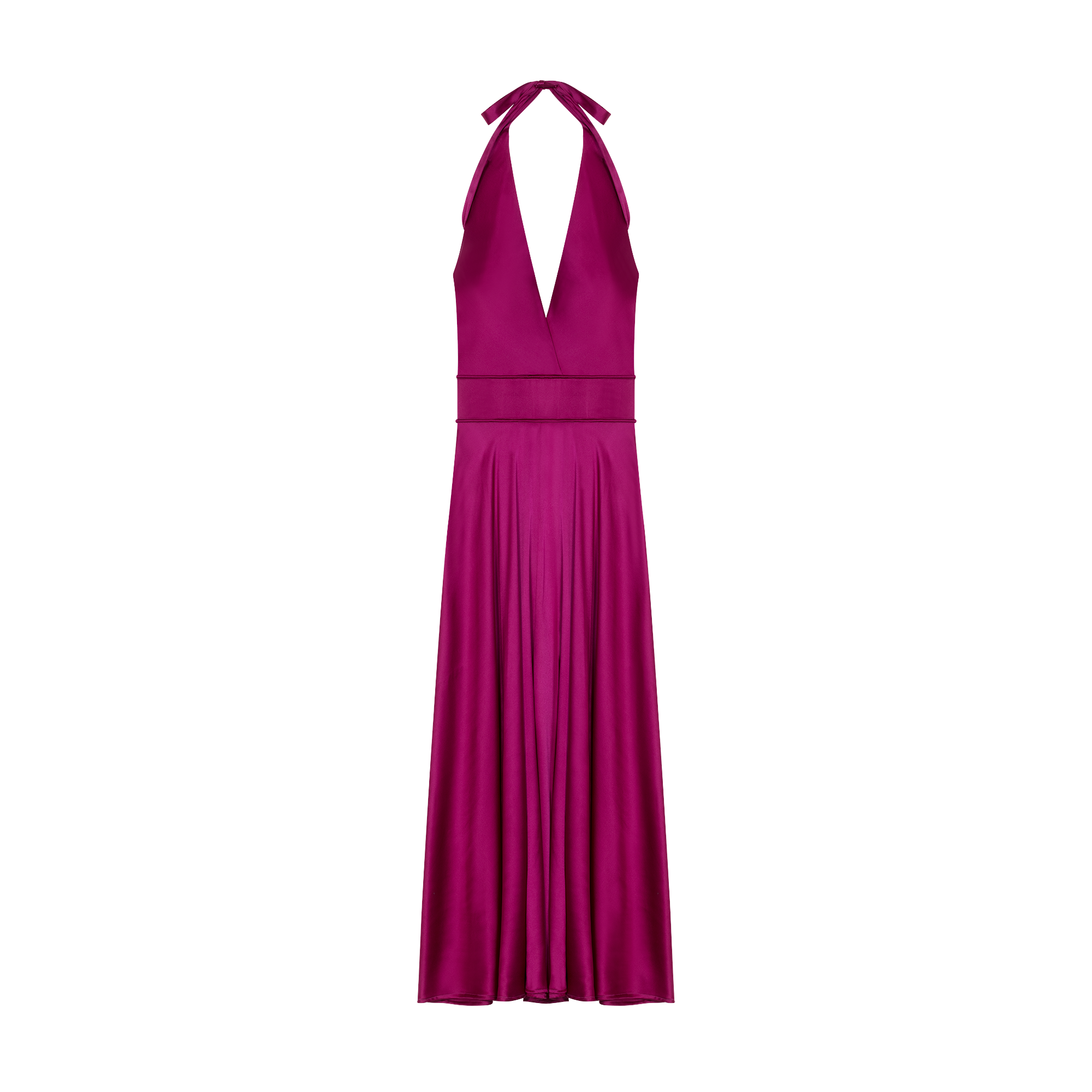 Long sleeveless silk dress - Dresses - MAJE